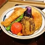 39837016 - 野菜ヒレカツ丼(タレかつ丼)