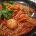 パスタ家 - 料理写真:生うにと帆立のトマトソース