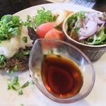 黒毛和牛とお好み焼き 鉄板家Act - 特製ハンバーグ(1,280円)