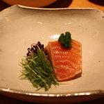 鮨 よしたけ - 桜鱒のスモーク