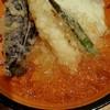 串天ぷら 段々屋 - 料理写真:焼き味噌つき冷やし天丼なななめから