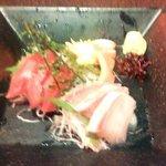 北の味紀行と地酒 北海道 - 3種刺身盛り(2015.6)