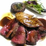 パーネ・エ・トラットリア リピエーニ - 北海道産牛フィレとフォァグラのポルトワインソース