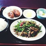 39846198 - 青椒肉絲定食