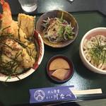 39847012 - 塩天丼エビ二本と野菜セット