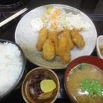 かき忠ハウス - カキフライ定食(H27.01)