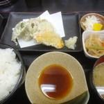 かき忠ハウス - 天ぷら定食(H27.01)