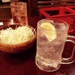 三蔵 - お通しは塩だれ千キャベ!