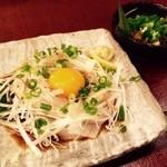 三蔵 - イカユッケにきんぴらメカブ!