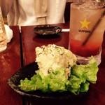 三蔵 - 三蔵ポテサラにトマト酢チューハイ!