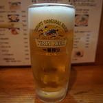 麺屋食堂まさお - 生ビール(600円)