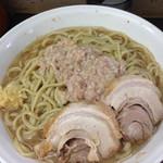 ラーメン二郎 - 大野菜ヌキニンニクアブラ増し(2015/07)