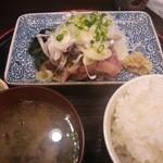 ゆうや - あじ刺定食(800円)
