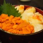 39859742 - 雲丹タラバ蟹丼 ミニ