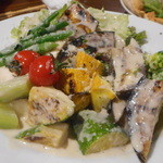 オステリア みちくさ - 色々野菜のクリーミーバーニャソース