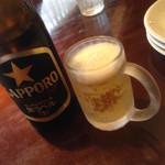 pizzeria di sapore - ビール、グラスが可愛い(^∇^)