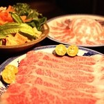 りゅうそう茶屋 - 9種類の沖縄野菜と、石垣牛しゃぶしゃぶ