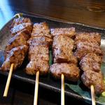 楽や - 山形牛串焼き(おっと、柔らかぁ~#)