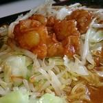 ワイナリーレストラン朝霧の庄 - 鉄板焼きホルモンラーメン(ライス付) ¥972(税込)