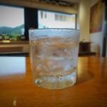 海畑マルシェ 太陽 - 芋焼酎ロック
