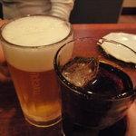 一鶴 - ☆生ビールとコーラで乾杯です☆