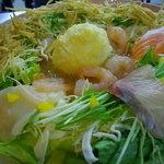 OSHINOび - 料理写真:海鮮ものたっぷりのおしのびサラダ♪とろろドレッシングが人気です。