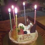 シロクマ食堂 - お祝いのケーキ(感謝!)