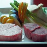 39870837 - フィレとロースと野菜