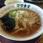 ママ食堂 - 明太子丼セット 屋台そば