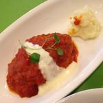 ビアホールガヴ - ランチ  ハンバーグ トマト煮込みチーズソース