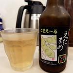 自家製麺つけそば 九六 - 201507 狛江市限定発売の枝豆ビールこまえ~る(480円)