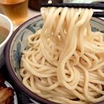 自家製麺つけそば 九六 - 201507 弾力と小麦の香りのある濃厚なスープに負けない自家製麺