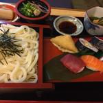宝寿司 - 料理写真:寿司・ざるうどん定食 950円