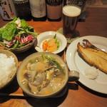 麦酒屋 るぷりん - 静岡県伊東直送 干物定食(サバ)