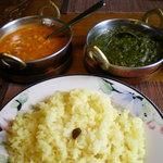 サマナラ - カレー2種にターメリック・ライス