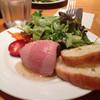 ラベイユ - 料理写真:前菜の鶏白レバーのパテ はちみつソースがけ