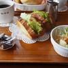 珈琲館 - 料理写真:オープンサンドセット