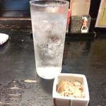 串や - チューハイ350円とお通しの切干大根