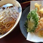 愛庵 - 下足と野菜天ぷらそば