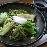 まつおか - まつおか・冷やし山菜蕎麦¥1,000