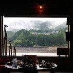 杜の郷 みるりいな  - 店内から見える熊野川
