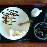 杜の郷 みるりいな  - 食後のケーキセット 500円