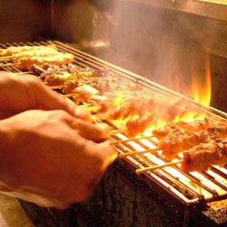 九州より直送の地鶏「炙り焼き」