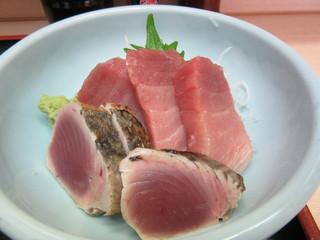 魚竹 - かつおたたき・鮪中トロ刺し盛り