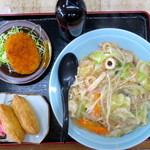 西善 - 料理写真:皿うどんランチ