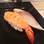 Sushi Bar にぎりて - 海老・シメサバ(各100円)