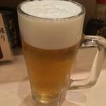 Sushi Bar にぎりて - 生ビール(480円)
