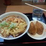 川村屋 - 天ぷらうどん いなりセット<税込>510円(2015.07.09)