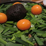 39920933 - 鳥みそ鍋(もも肉、レバー、キンカン、九条葱、長葱、玉葱、ニラ、豆腐、蒟蒻)3