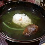 味 竹林 - 鱧とワカメの汁物